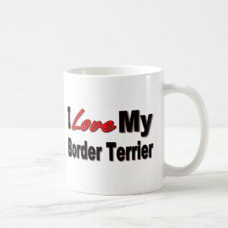 Jag älskar min Merchandise för gränsTerrierhunden Kaffemugg