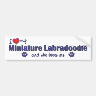 Jag älskar min miniatyr Labradoodle (den kvinnliga Bildekal