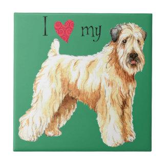 Jag älskar min mjuka bestrukna Wheaten Terrier Kakelplatta