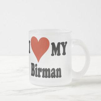 Jag älskar min mugg för kaffe för den Birman