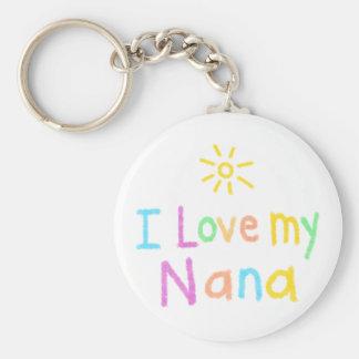 Jag älskar min Nana Rund Nyckelring