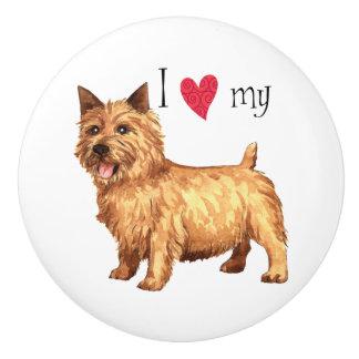 Jag älskar min Norwich Terrier Knopp