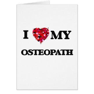 Jag älskar min Osteopath Hälsningskort