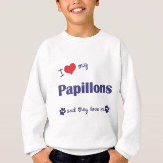 Jag älskar min Papillons (åtskilliga hundar) Tee Shirt