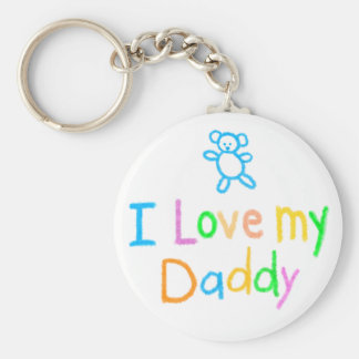 Jag älskar min pappa Keychain Rund Nyckelring