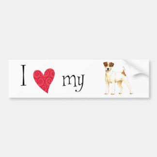 Jag älskar min ParsonRussell Terrier Bildekal