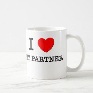 Jag älskar min partner kaffemugg