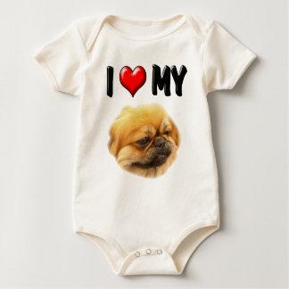 Jag älskar min Pekingese Bodies För Bebisar