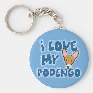 Jag älskar min Podengo Keychain Nyckelring