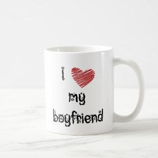 Jag älskar min pojkvän kaffemugg