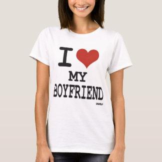 Jag älskar min pojkvän tee shirts