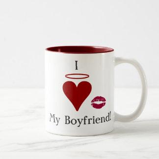 Jag älskar min pojkvän Två-Tonad mugg