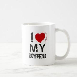 Jag älskar min pojkvän vit mugg