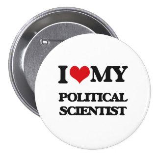 Jag älskar min politisk forskare mellanstor knapp rund 7.6 cm