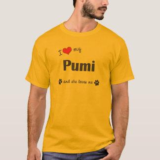 Jag älskar min Pumi (den kvinnliga hunden) Tshirts