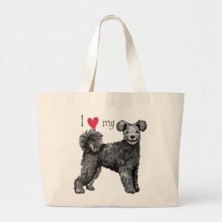 Jag älskar min Pumi Tote Bags