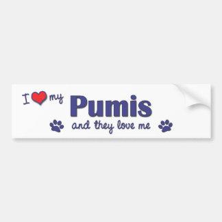 Jag älskar min Pumis (åtskilliga hundar) Bildekal
