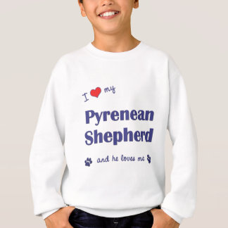 Jag älskar min Pyrenean herde (den Male hunden) T-shirts