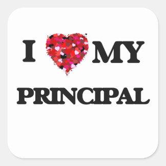 Jag älskar min rektor fyrkantigt klistermärke