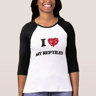 Jag älskar min reptilar tee shirt