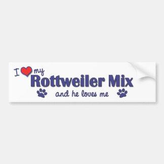 Jag älskar min Rottweiler blandning (den Male hund Bildekal