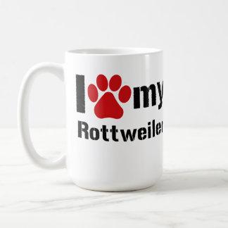Jag älskar min Rottweiler Kaffemugg