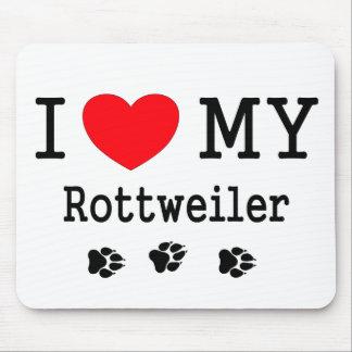 Jag älskar min Rottweiler Musmatta