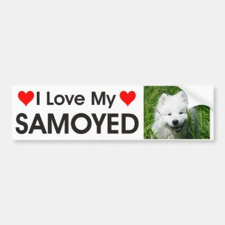 Jag älskar min Samoyedbildekal Bildekal