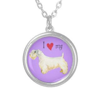 Jag älskar min Sealyham Terrier Silverpläterat Halsband