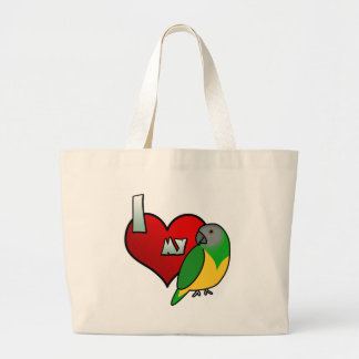 Jag älskar min Senegal som papegojan hänger lös Jumbo Tygkasse