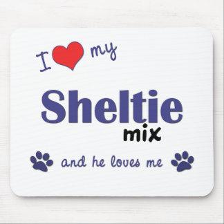 Jag älskar min Sheltie blandning (den Male hunden) Musmatta
