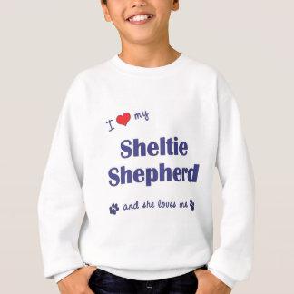 Jag älskar min Sheltie herde (den kvinnliga Tee Shirts