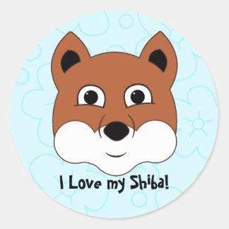 Jag älskar min Shiba klistermärke