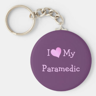Jag älskar min sjukvårdare rund nyckelring