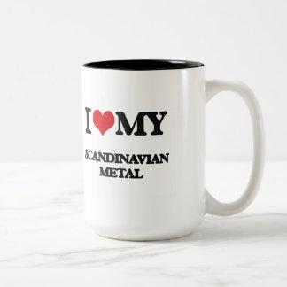 Jag älskar min SKANDINAVISKA METALL Två-Tonad Mugg
