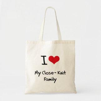 Jag älskar min Slut-Sticka familj Tygkasse