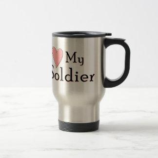 Jag älskar min soldat resemugg