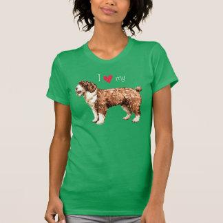 Jag älskar min spanska vattenhund t shirt