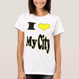 Jag älskar min Stad-Damer behandla som ett barn - T Shirt