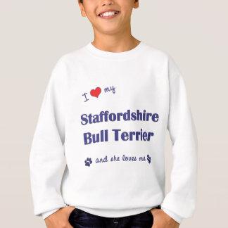 Jag älskar min Staffordshire tjurTerrier (den Tee