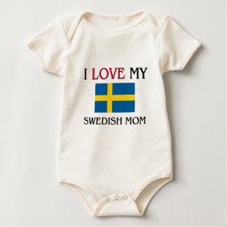 Jag älskar min svenska mamma sparkdräkter