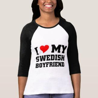 Jag älskar min svenska pojkvän tee shirt