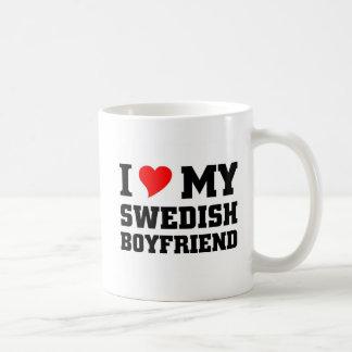Jag älskar min svenska pojkvän vit mugg
