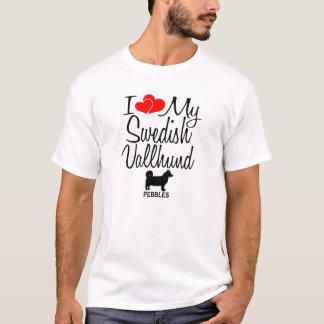Jag älskar min svenska Vallhund hund Tee Shirt
