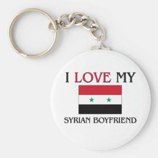 Jag älskar min syrianska pojkvän rund nyckelring
