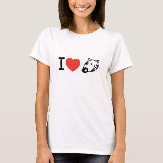 Jag älskar min T-tröja för hunden (grop-tjur) T-shirts
