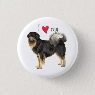 Jag älskar min tibetana Mastiff Mini Knapp Rund 3.2 Cm