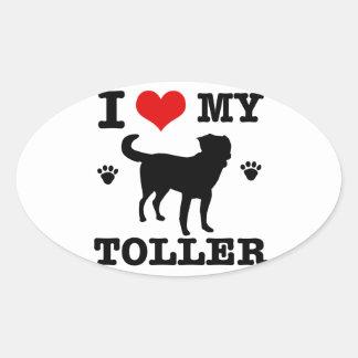 Jag älskar min Toller Ovalt Klistermärke