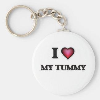 Jag älskar min Tummy Rund Nyckelring