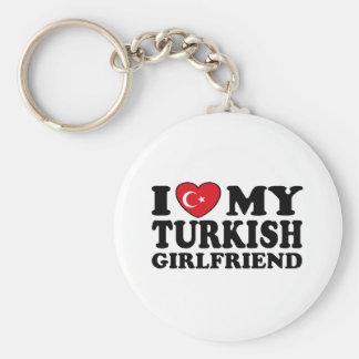 Jag älskar min turkiska flickvän rund nyckelring